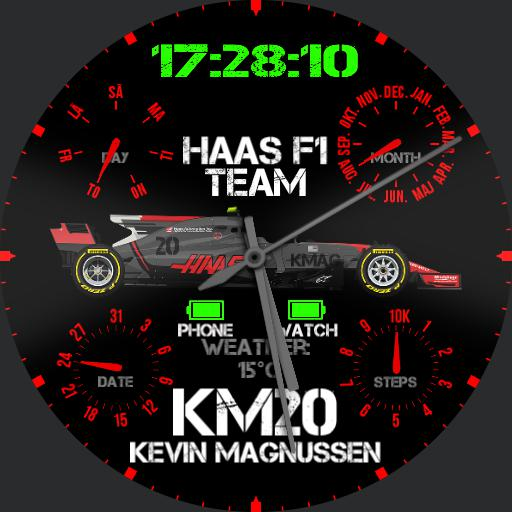 Analog kmag and haas f1 fan watch Copy