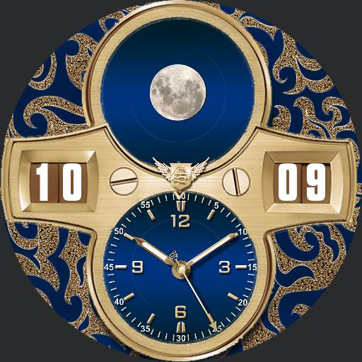 Sanne Angel gold n blue Moon
