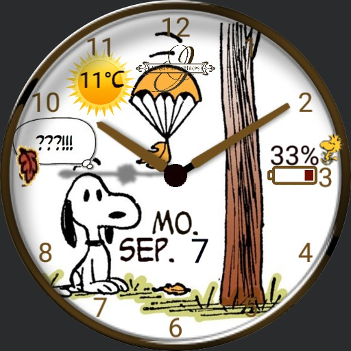 Snoopy Herbst Animation
