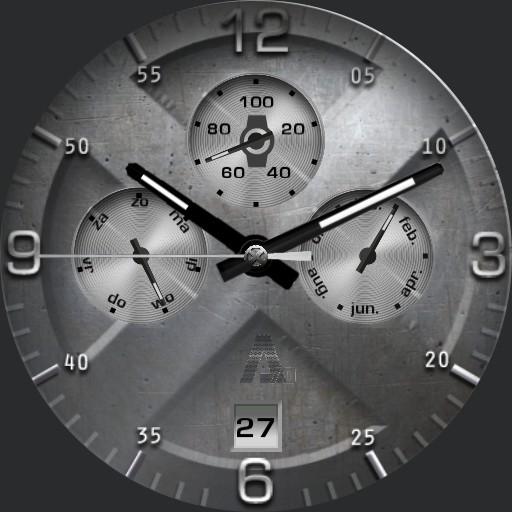 A-70 X Watch multicolor metal