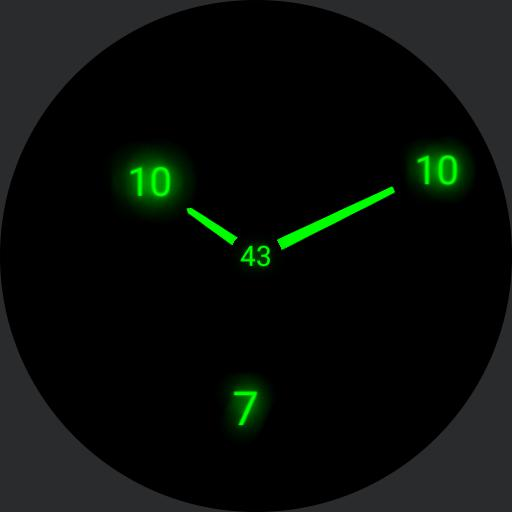Screen Saver Clock Day date Battery Colored Copy