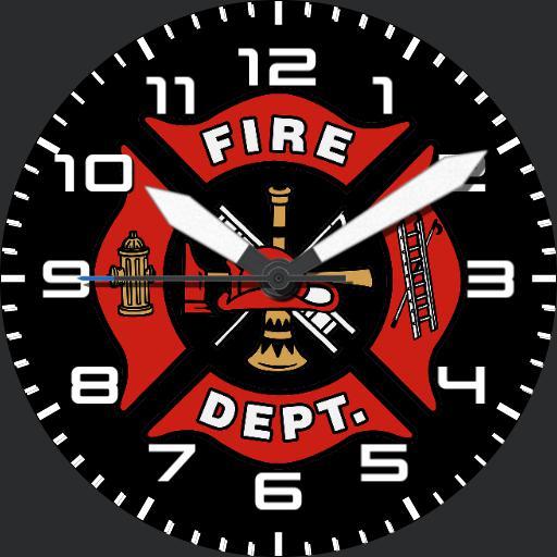 Firefighter watch face