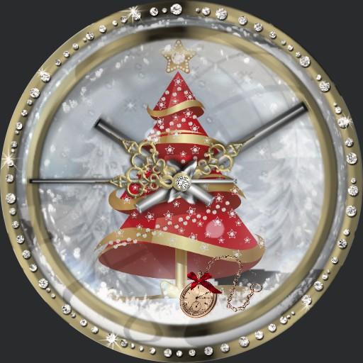 Christmastree Abendrot 3fach Dim nach Tageszeit A Schneefall 2S.