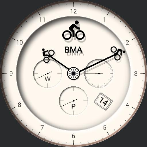 Bicycle Gears Watch Face Ivory - BMA