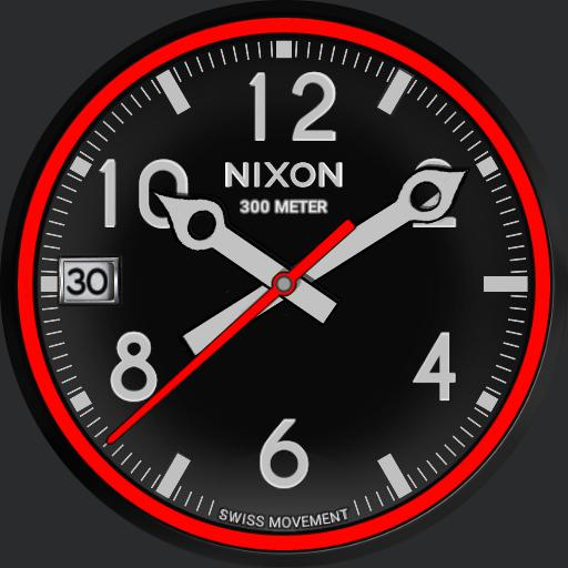 Nixon October - Black/Red