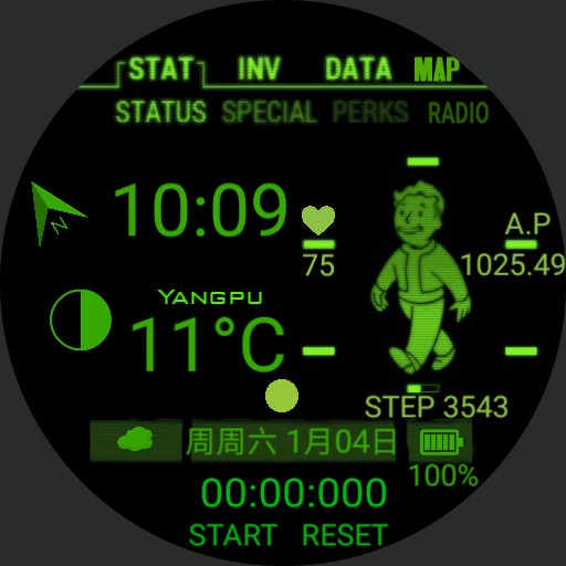 Chinese Fallout Pip Boy with sounds 24h Date
