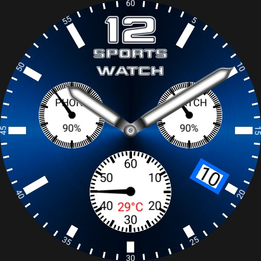 Swiss style sports white dials