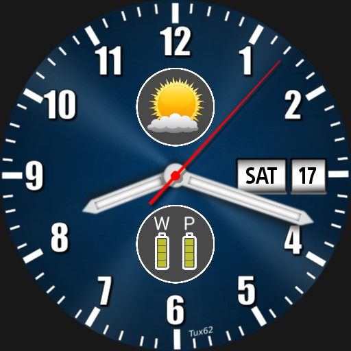 weather icon- dual battery.  clean display easy reader