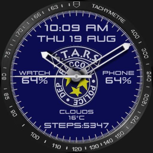 S.T.A.R.S. logo watchface