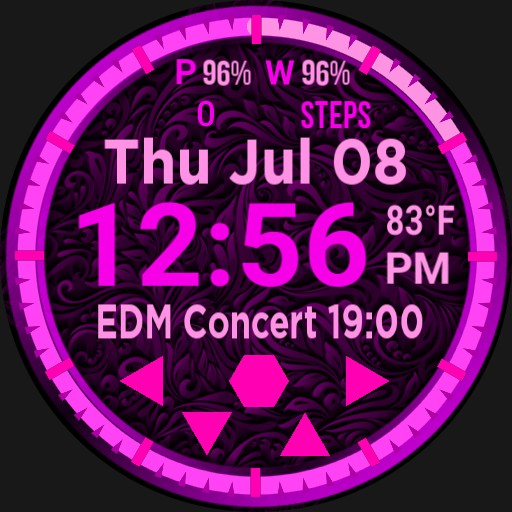 Big Digital Pink Calendar Step Player  Copy