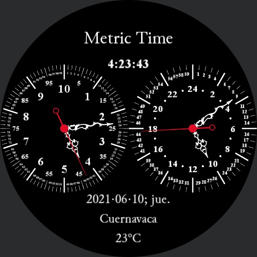 Double Dial 10h Decimal Time Watch
