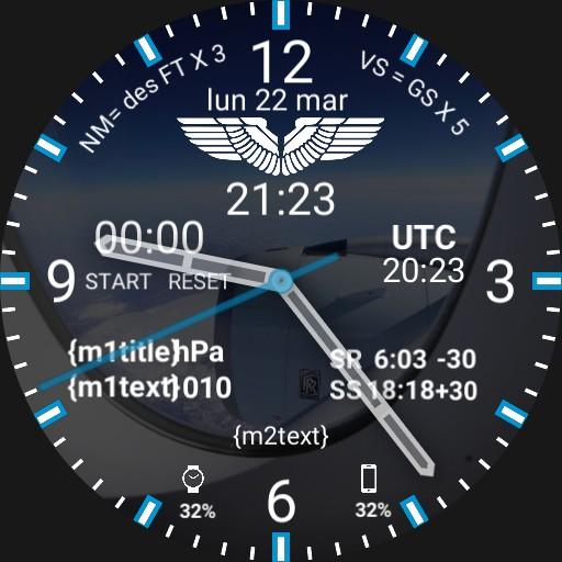Aviation Pilot Watchface PAX SEAT