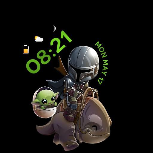 Mandalorian and baby Yoda 1
