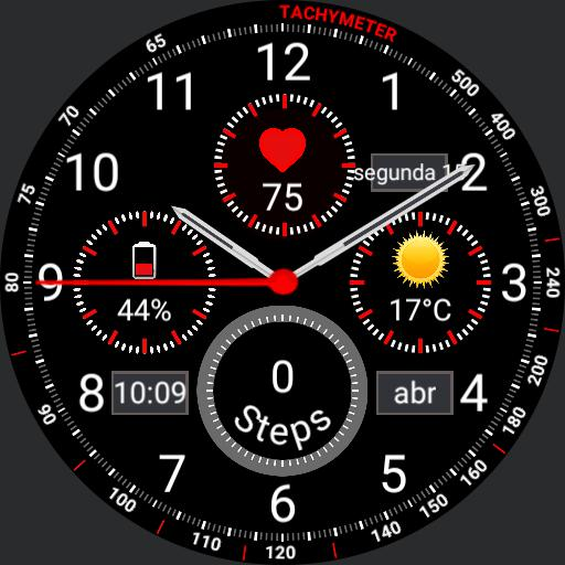 Samsung Gear S3 Frontier Mod 2 - 4 chronograph Ver 2 Copy