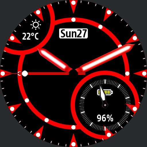 Classic circular design V2 guage always on Red