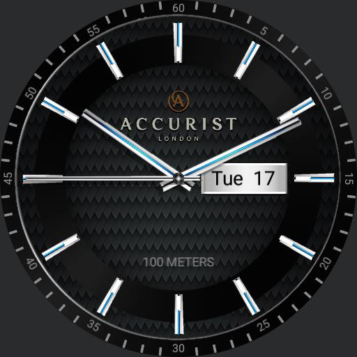 Accurist black plated 7058