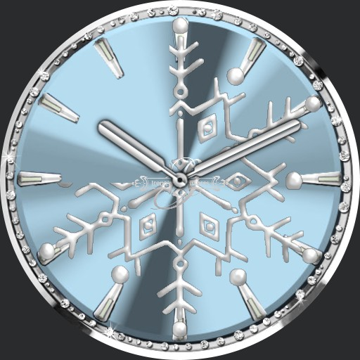 Silver Snowflake Animation Ucolor