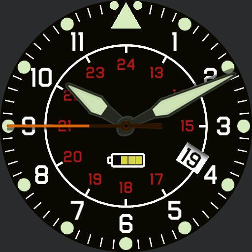 V.1Military basic, 12/24hr Aeromaster mod V.1
