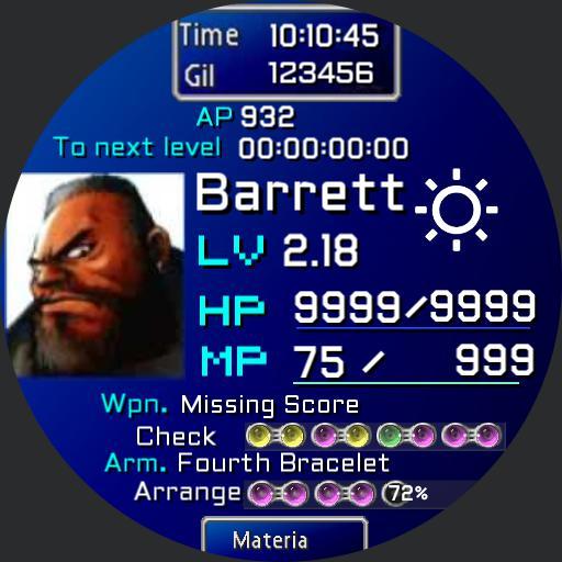 Final Fantasy 7 FF7 Barrett