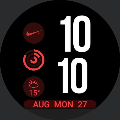 Nike Apple Watch face Red and White Copy