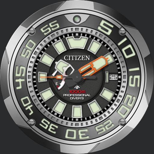 Citizen Eco-Drive Professional Diver V2 reduced zoom