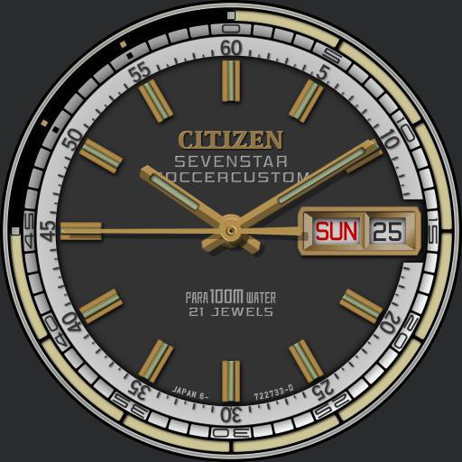 Citizen Seven Star Soccer Custom C.1970