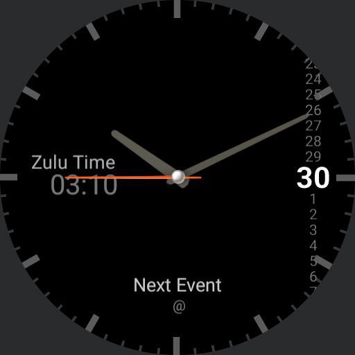 Analog Zulu Watch Black