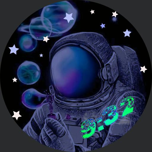 Space Bubbles Digital Glow