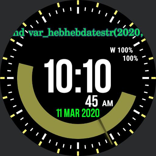 Hebrew Watch 2.42 Copy working on chatzos layla