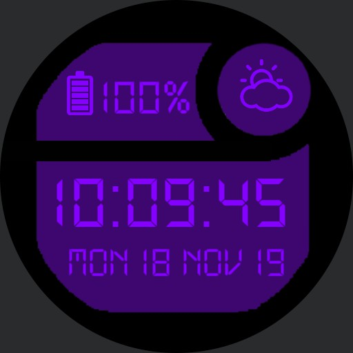 Classic Digital Watch Purple
