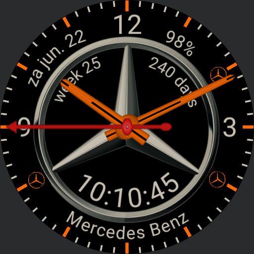MERCEDES WATCH mojavesilver orange