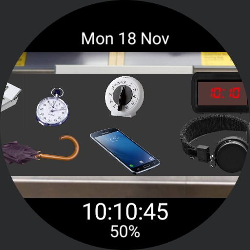 Store checkout scene with 9 app launcher for Samsung Galaxy smartwatch