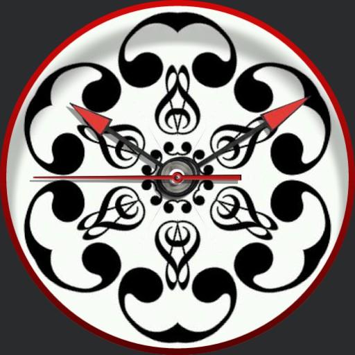 Kaleidoscopic pattern BW