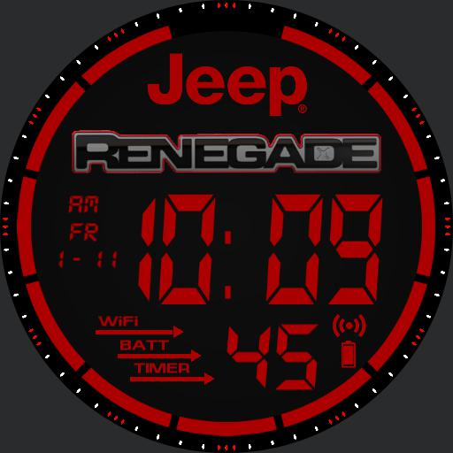 Jeep Renegade Watch red
