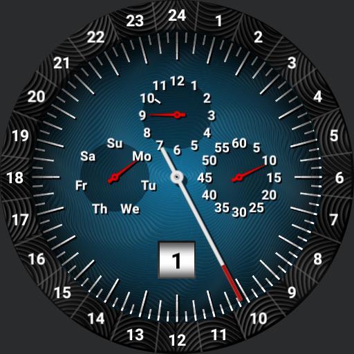 24 hour dial. V2 subdials