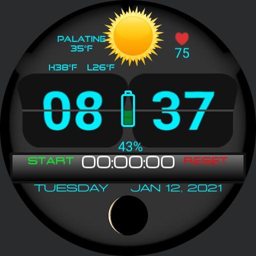 Flip Clock Stopwatch v.3