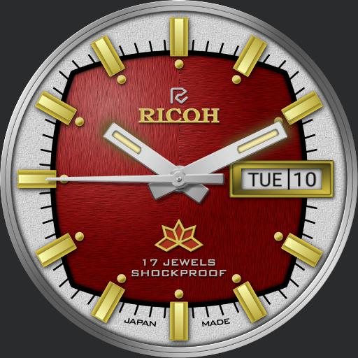 Red Dial Ricoh Mechanical C.1970s