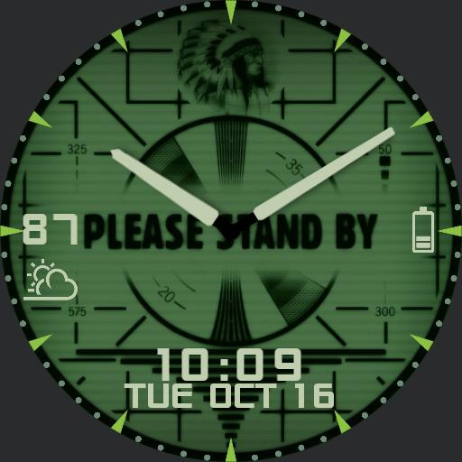 Fallout Stand By with Vault-Tec ambient watch face