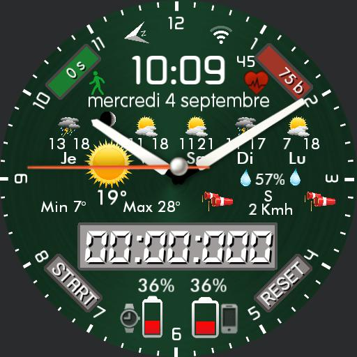 By Nspz_73, 12 background colors, highly customizable and themeable watch face