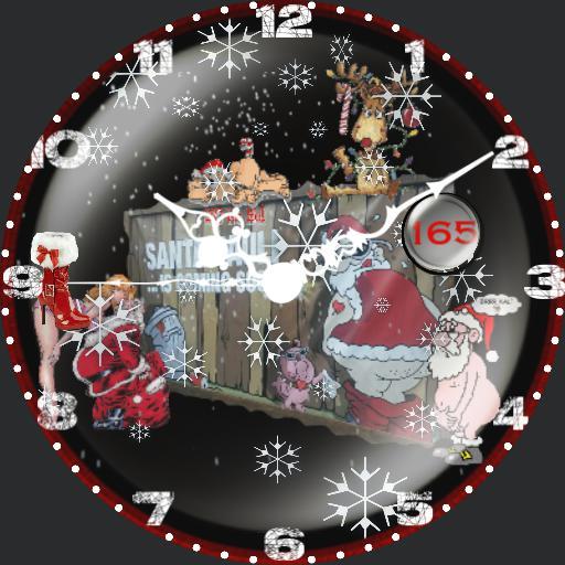 Christmas Counter.Santa Pauli 2 Christmas Counter Watchmaker Watch Faces