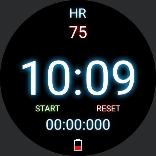 black simple heart rate