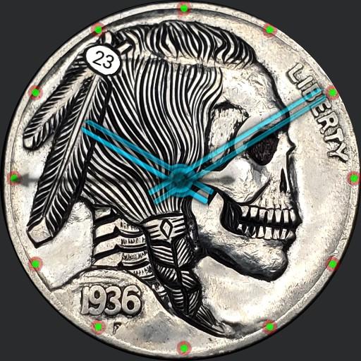 Hobo Nickel Indian Skull