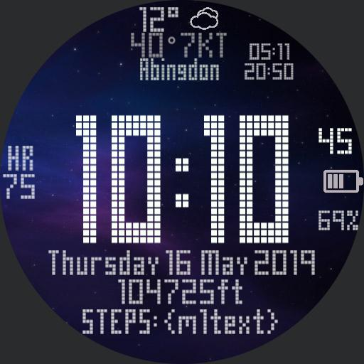 Digital altimeter With calendar and weather