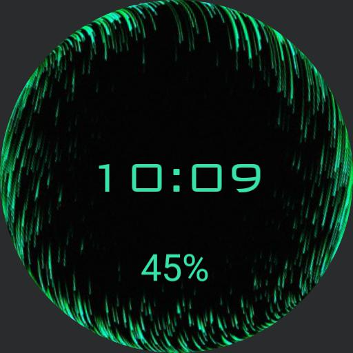 Green wave globe