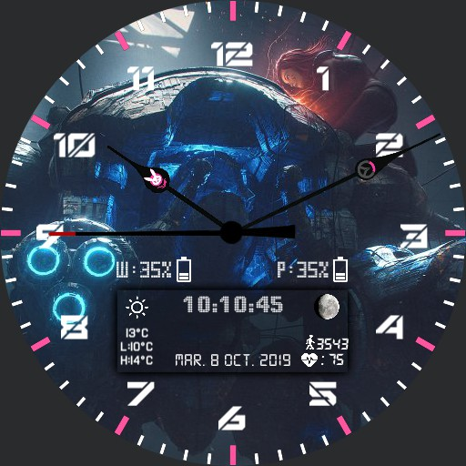 D.VA MEKA theme interactive watchface French version
