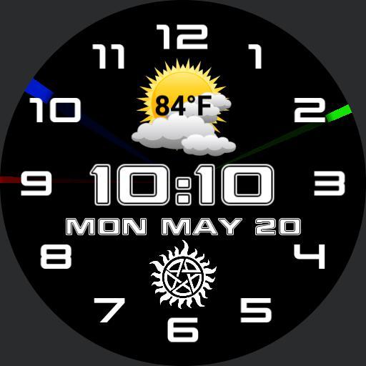 analog, digital combo watch