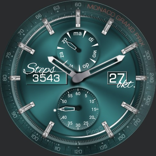 Turquoise metal look with color switcher