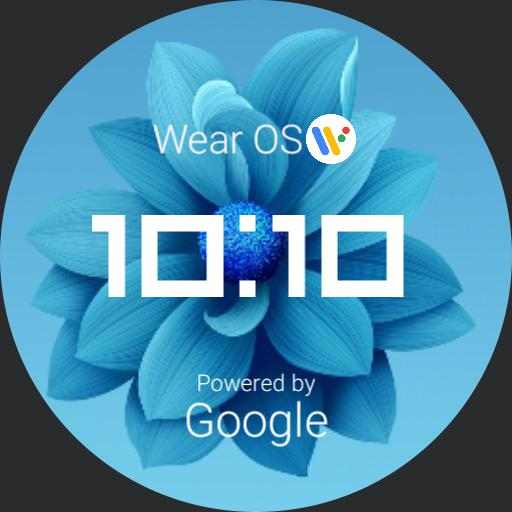 Wear OS AG Blue Flower