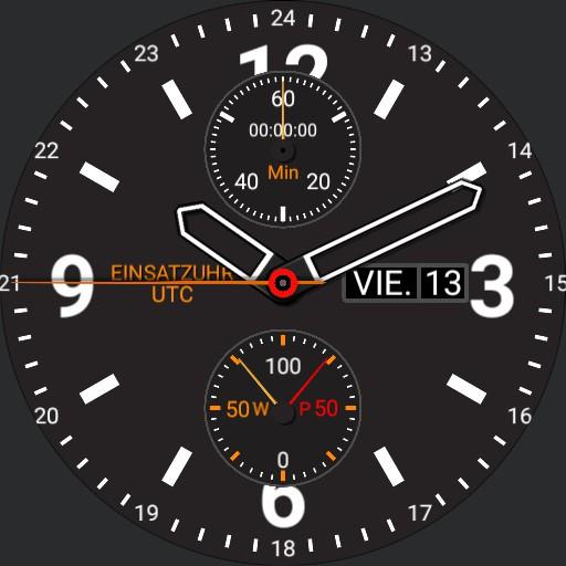 Einsatzuhr UTC 5 typ 1 Stunde