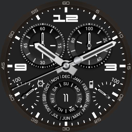 full calendar watch